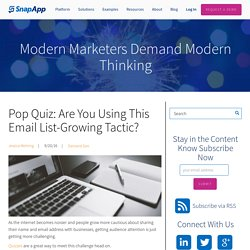 Pop Quiz: Are You Using This Email List-Growing Tactic?