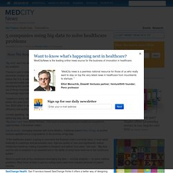 5 companies using big data to solve healthcare problems