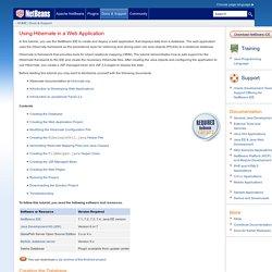 Using Hibernate in a Web Application - NetBeans IDE Tutorial