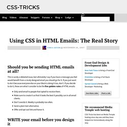 Using CSS in HTML Emails: The Real Story