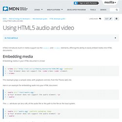 Using HTML5 audio and video