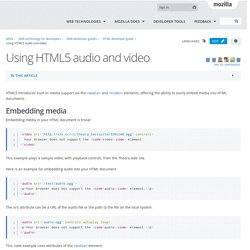 Using HTML5 audio and video - Web developer guide