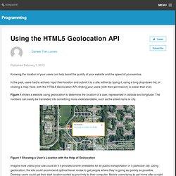 Using the HTML5 Geolocation API