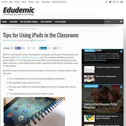 Tips for Using iPads in the Classroom
