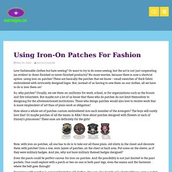 Using Iron-On Patches For Fashion