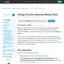 Using Irssi for Internet Relay Chat