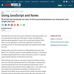 Using JavaScript and forms