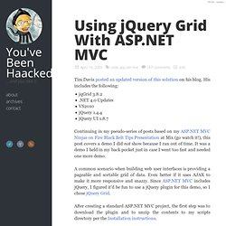 Using jQuery Grid With ASP.NET MVC