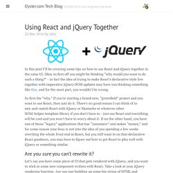 Using React and jQuery Together · Oyster.com Tech Blog
