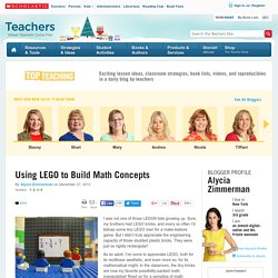Using LEGO to Build Math Concepts