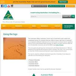 Using the logo - The Australian Made Campaign