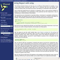 Using Mayavi with scipy — mayavi v4.2.1 documentation