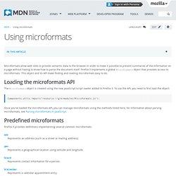 Using microformats - MDC