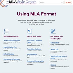 The MLA Style Center
