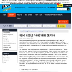 Using Mobile Phone While Driving
