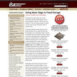 Using Mylar Bags in Food Storage
