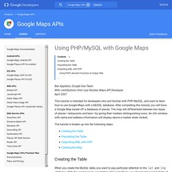 Using PHP/MySQL with Google Maps - Google Maps API