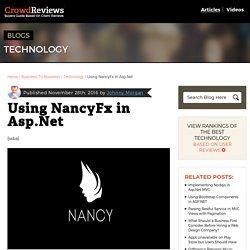 Using NancyFx in Asp.Net - CrowdReviews.com Blog