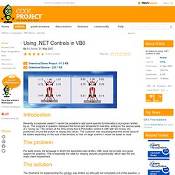 Using .NET Controls in VB6