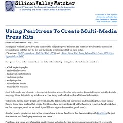 Using Pearltrees To Create Many-Media Press Kits