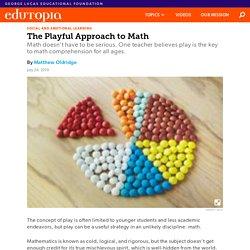 Using Play to Teach Math