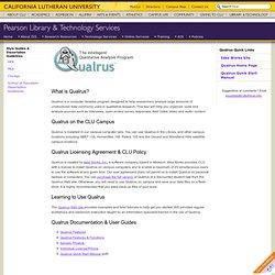 Using Qualrus