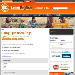 Using Question Tags