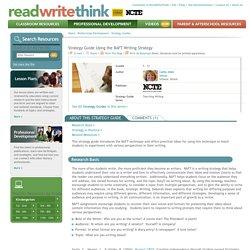 Using the RAFT Writing Strategy