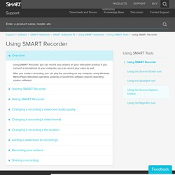 Using SMART Recorder - SMART Technologies