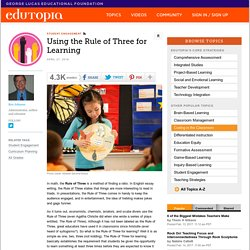 Using the Rule of Three for Learning