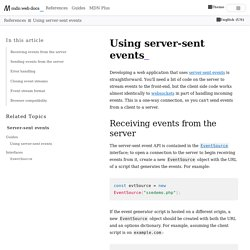 Using server-sent events - Web APIs