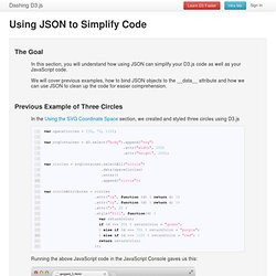 Using JSON to Simplify Code