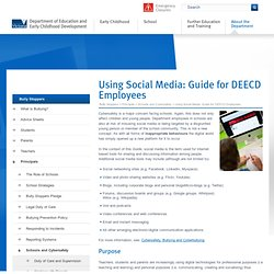 Using Social Media: Guide for DEECD Employees