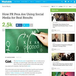 How PR Pros Are Using Social Media for Real Results