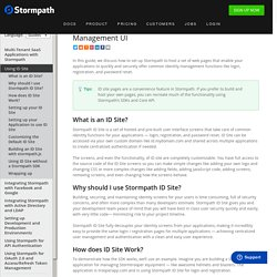 Using Stormpath's ID Site to Host your User Management UI - Stormpath