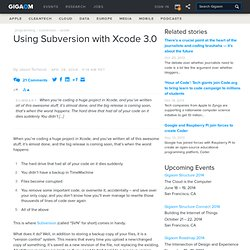 Using Subversion with Xcode 3.0