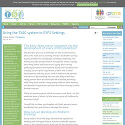 Using the TASC system in EYFS Settings