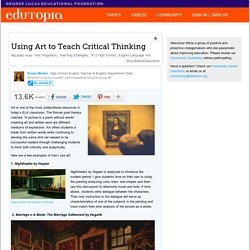 Using Art to Teach Critical Thinking