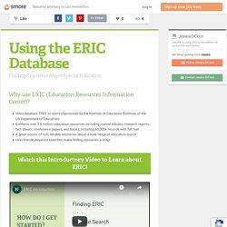 Using the ERIC Database (Jessica)