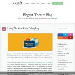Using The WordPress Debug Log