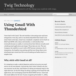 Using Gmail With Thunderbird - Twig Technology