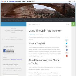 Using TinyDB in App Inventor – App Inventor 2 – Learn to Code!