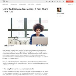 Using Todoist as a Freelancer– 5 Pros Share Their Tips