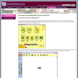 Using the Tool Bars in Kidspiration 2