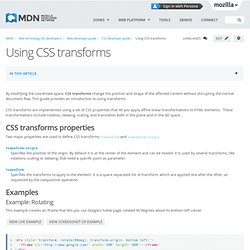 Using CSS transforms