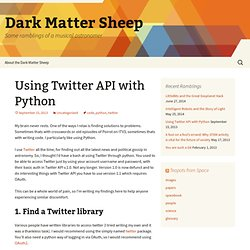 Using Twitter API with Python