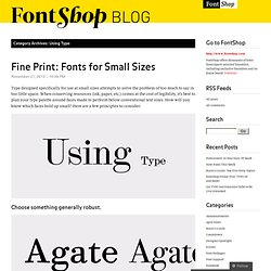 Using Type « FontShop Blog