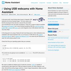 Using USB webcams with Home Assistant - Home Assistant