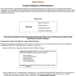 Using Writing In Mathematic