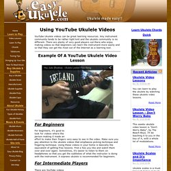 Using YouTube Ukulele Videos